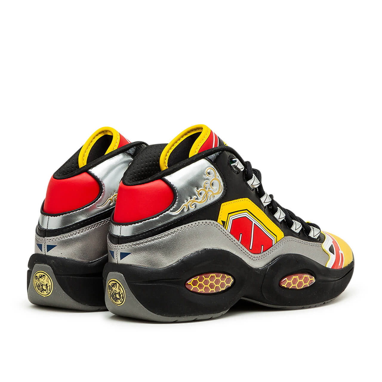 Reebok x Power Rangers - Question Mid - black/silver metallic/vector red - GY0590
