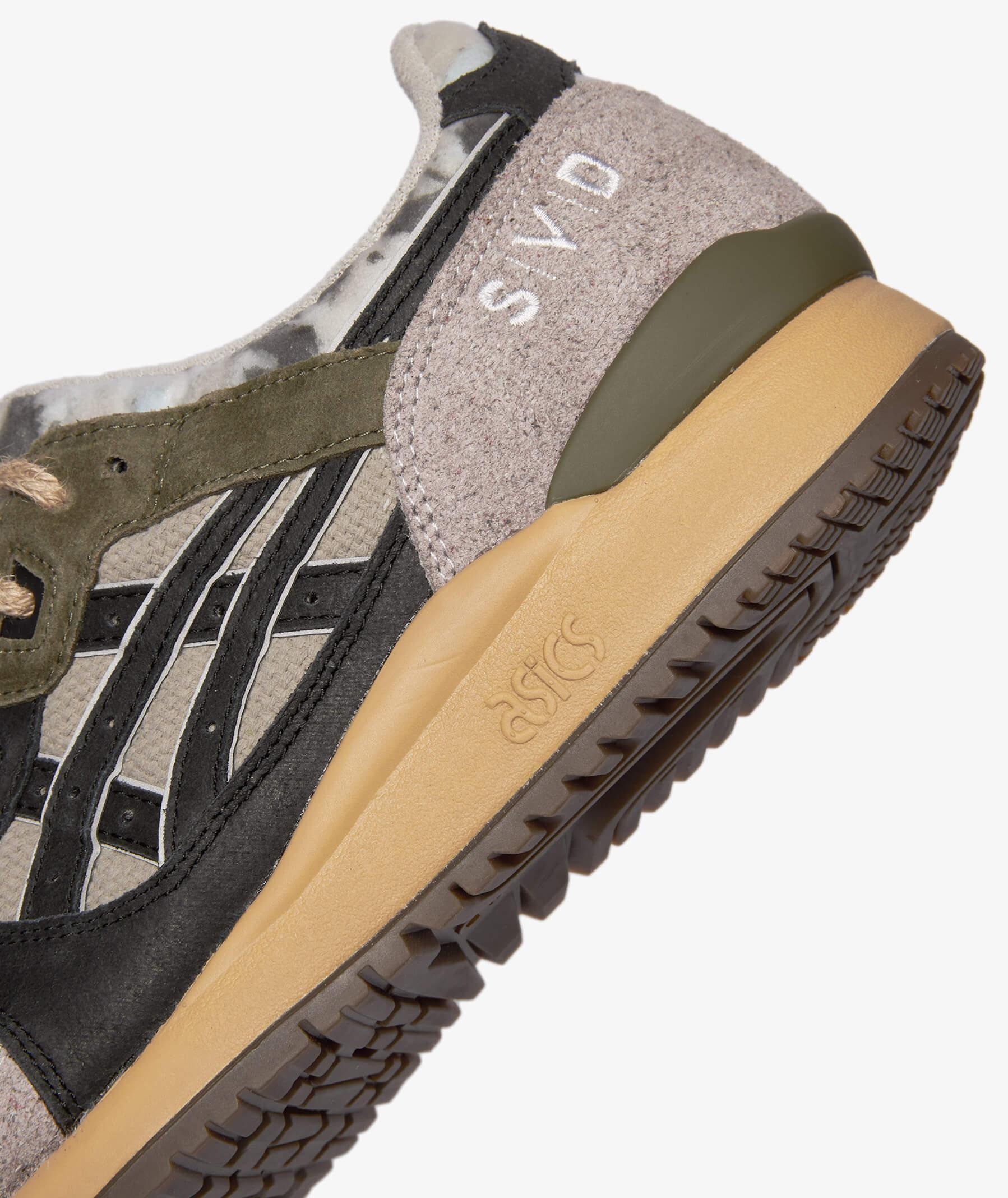heel detail with svd stitching - ASICSSportStyle x SIVASDESCALZO (SVD)- GEL-LYTEIIIOG- Rewind The Planet - beige/black - 1203A122-250