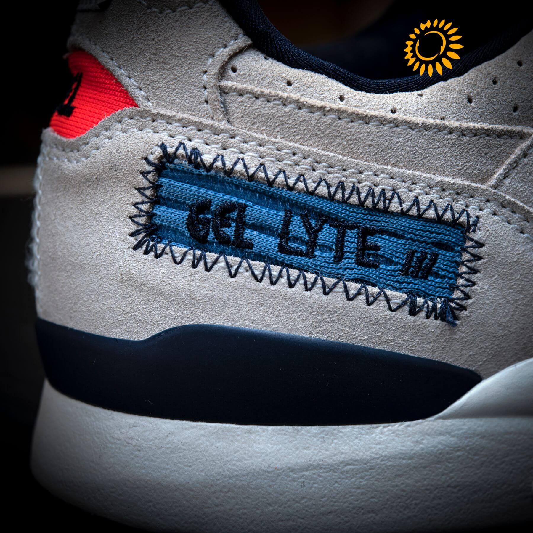 "details heel area - ASICS- GEL-LYTEIII OG - ""Patchwork""- birch/birch - 1203A133.200"