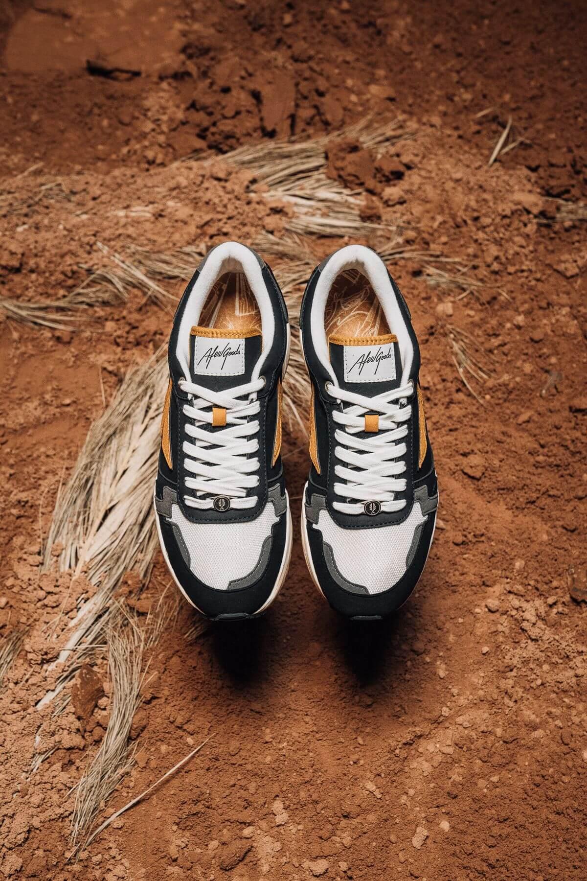 """Afew Goods - Yamasura Runner - """"Soil"""" - black/dark grey/soil brown - AG005YS01OG"""