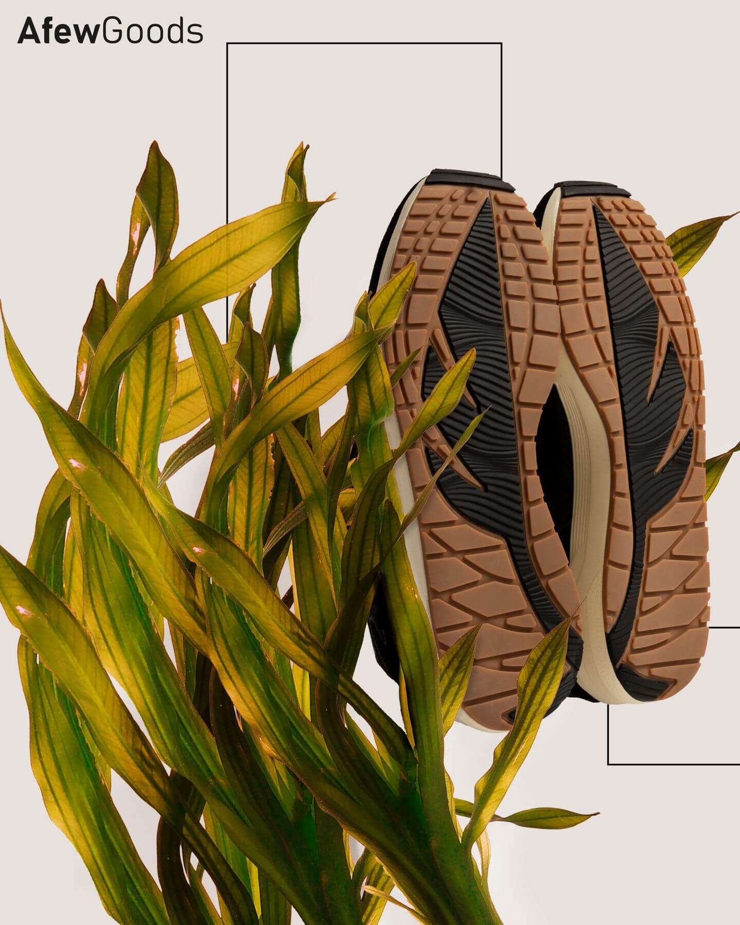 "nachhaltige streetwear - Afew Goods - Yamasura Runner - ""Soil"" - black/dark grey/soil brown - AG005YS01OG"