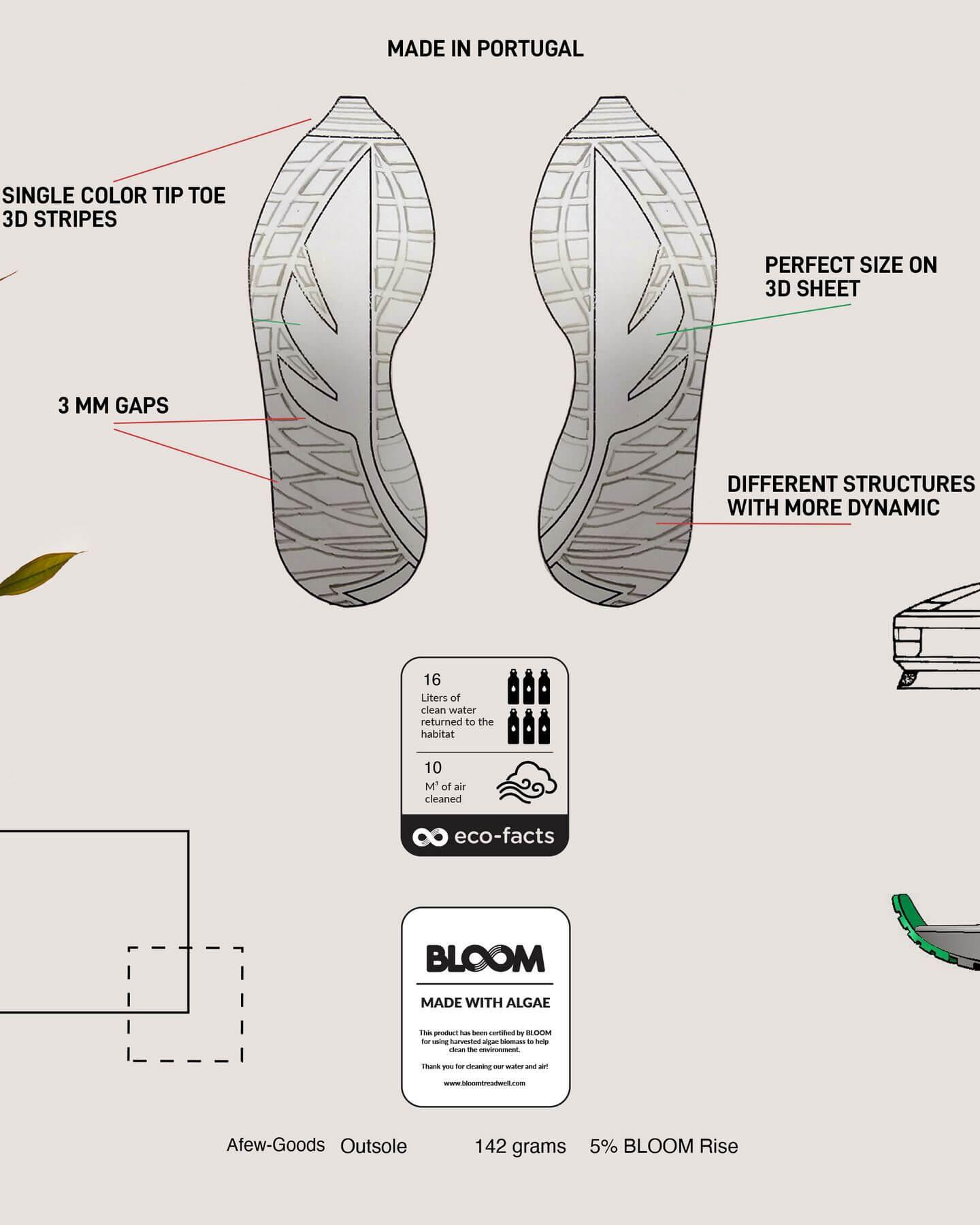 """bloom algae for sneakers - Afew Goods - Yamasura Runner - """"Soil"""" - black/dark grey/soil brown - AG005YS01OG"""