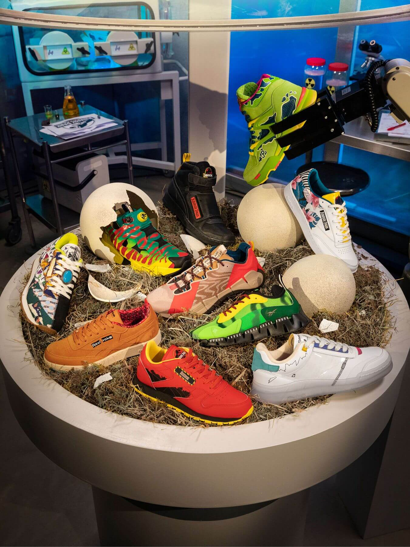 overview - the complete Reebok x Jurassic Park sneaker collection