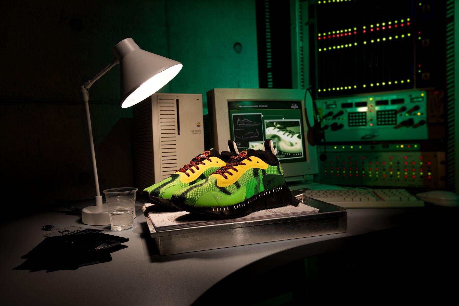 Reebok x Jurassic Park - Zig Dynamica GS/PS- sushi green/stinger yellow/black - GY0581/GX8144