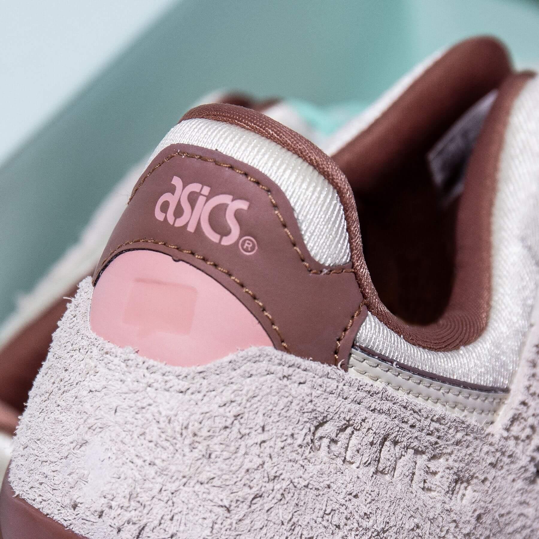 "heel details - ASICSSportStyle x Nice Kicks - Gel-Lyte III - ""Nice Cream"" - ivory/ivory - 1201A460-750"