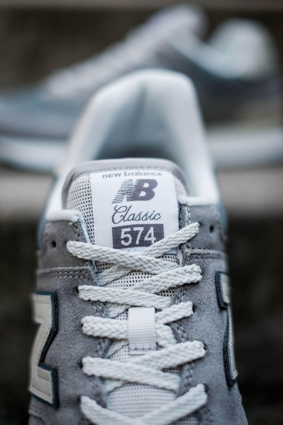 New Balance tongue logo details - New Balance - 574 History Class Pack - ML574BA2 - grey