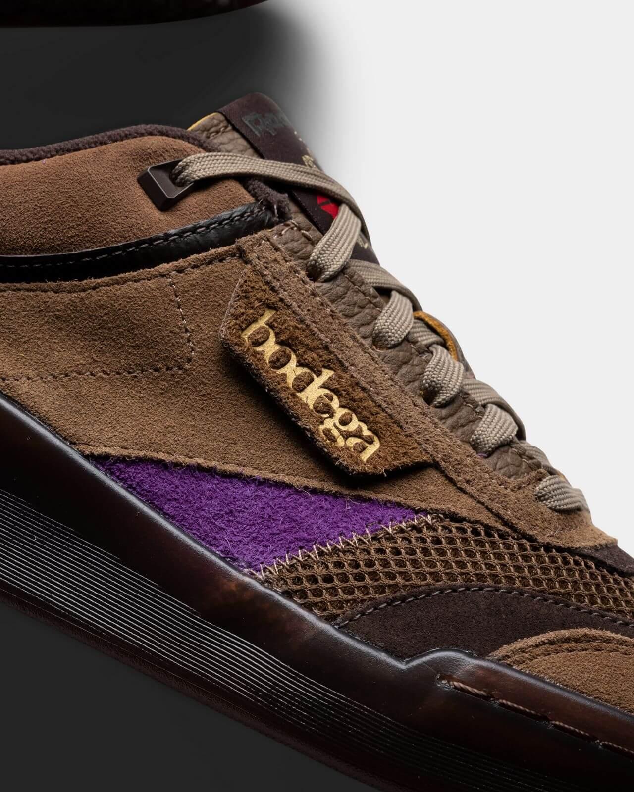 details - Reebok x Bodega - Club C Legacy - just brown/extreme purple/earth - H03360