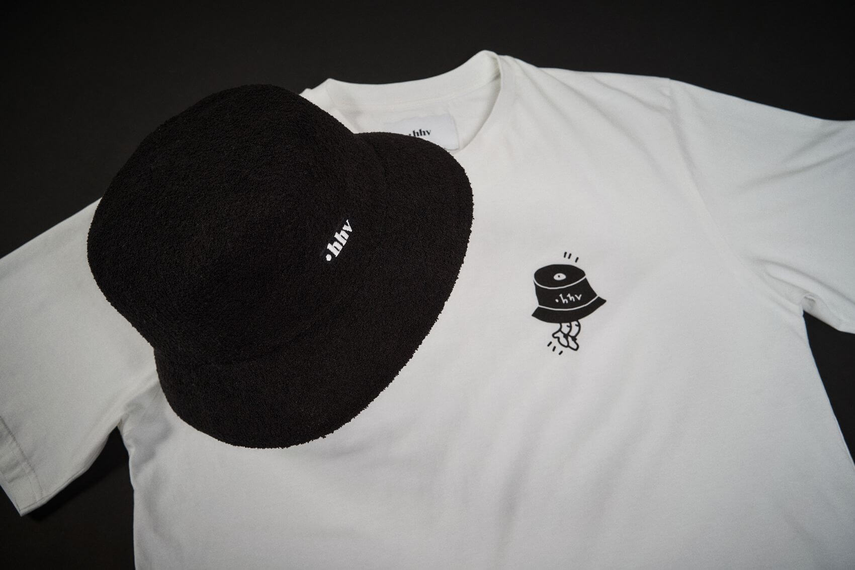 HHV x Kangol - Bermuda Bucket Hat - black/white