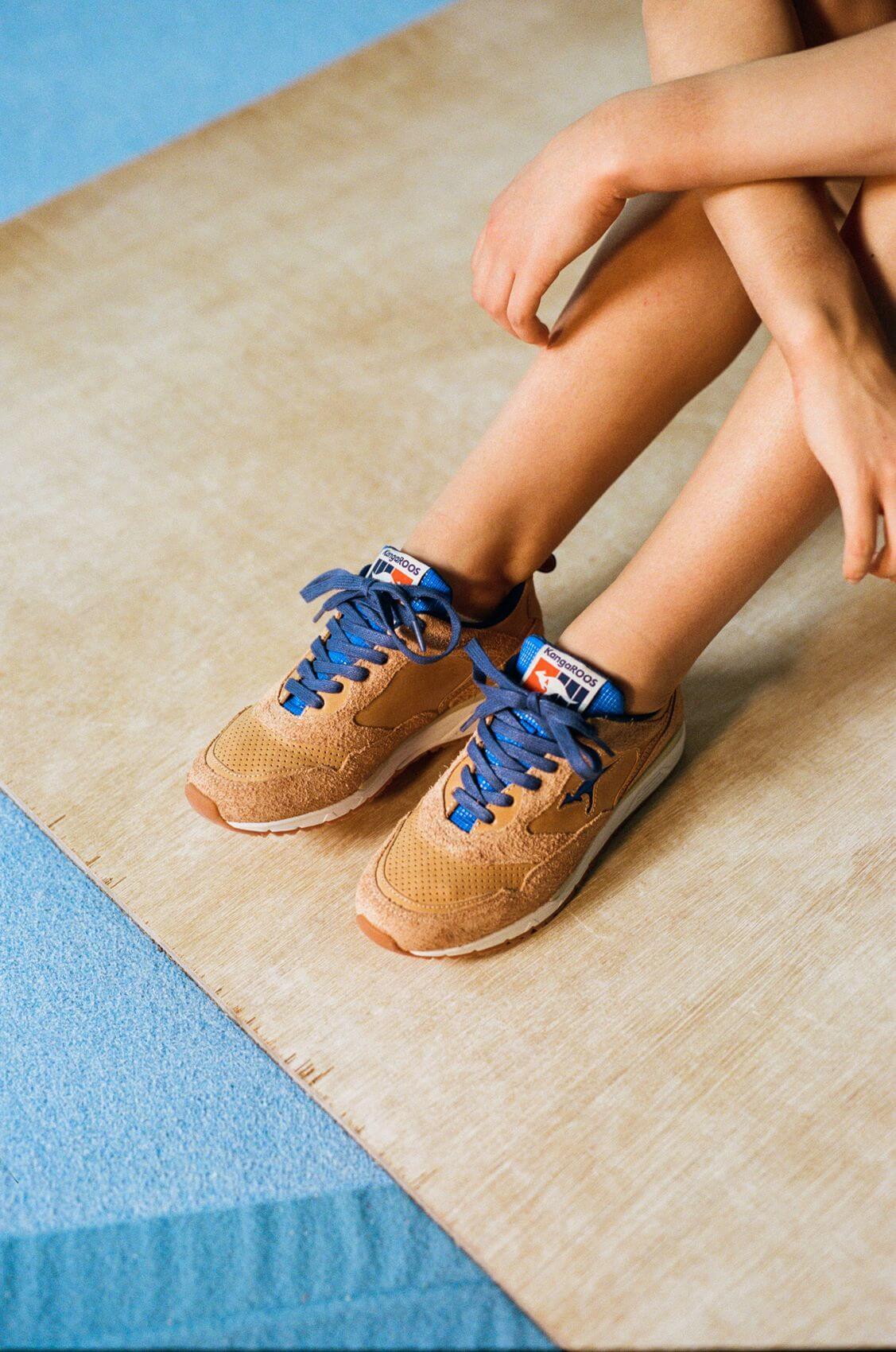 on feet - the KangaROOS x DTB(Deutscher Turner-Bund) - The DTB - brown/blue