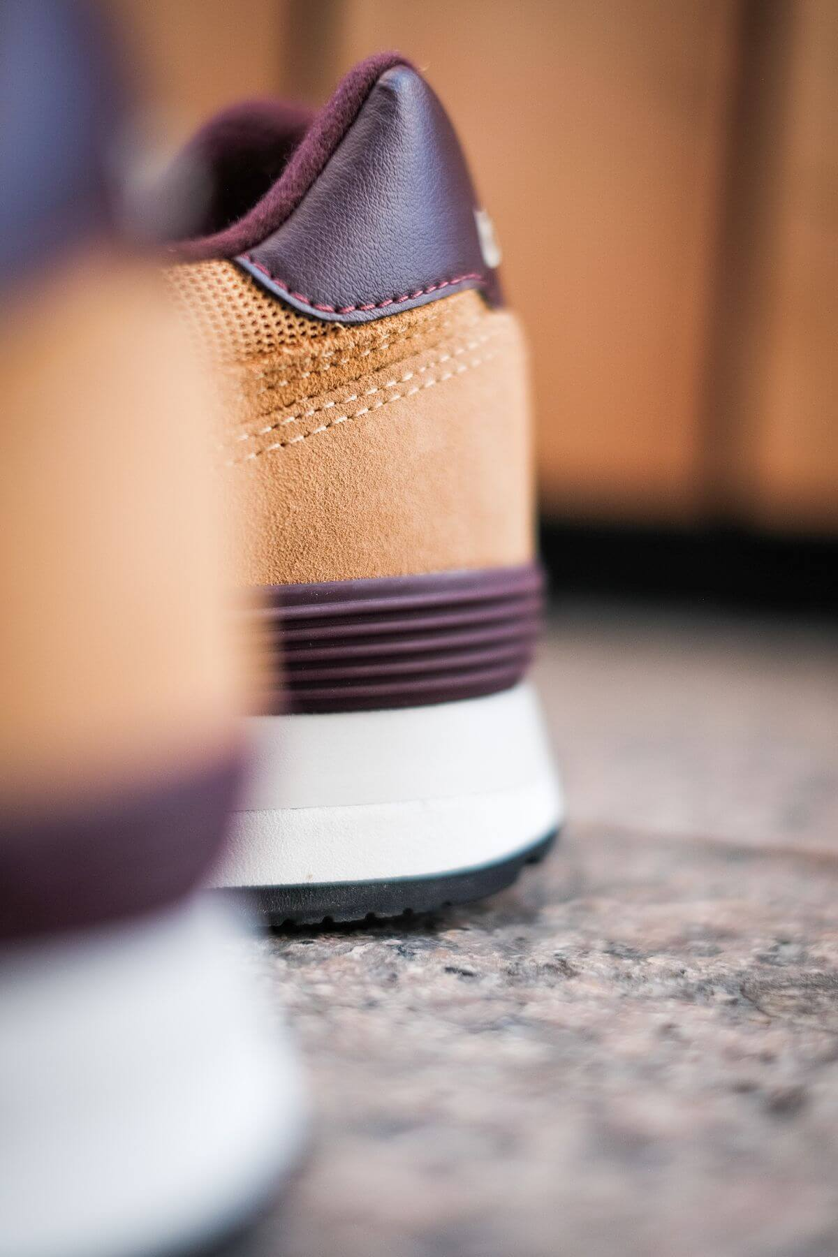 heel details of the New Balance - 574 History Class Pack - ML574BF2 - brown