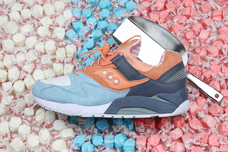 "Saucony x Premier - Grid 9000 - ""Street Sweets"" - blue/white/peach - S70265-1"