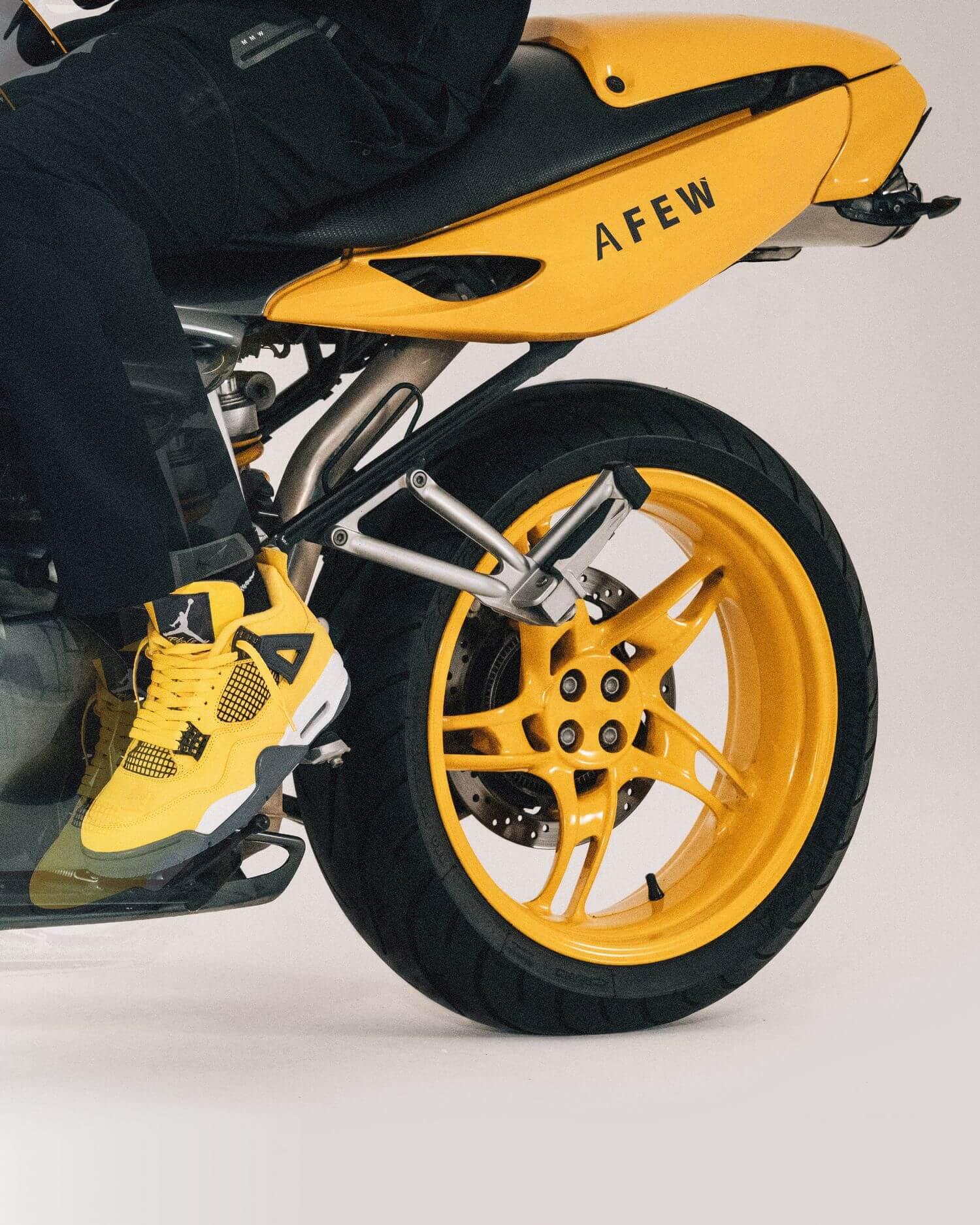 """Jordan Motorsports - Nike Air Jordan 4 Retro - """"Tour Yellow"""" - tour yellow/dark blue grey/white - CT8527-700"""