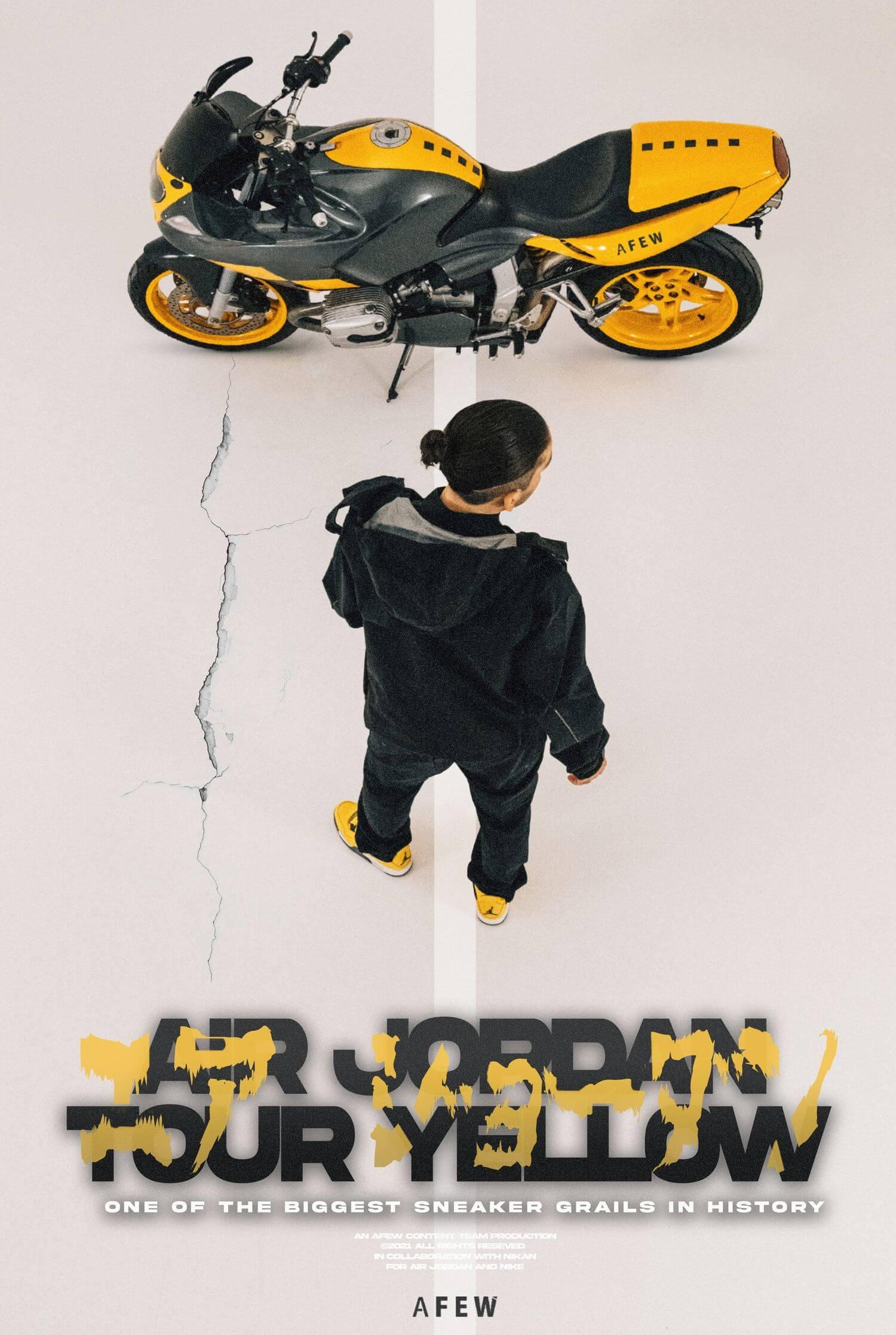 """Nike Air Jordan 4 Retro - """"Tour Yellow"""" - tour yellow/dark blue grey/white - CT8527-700"""
