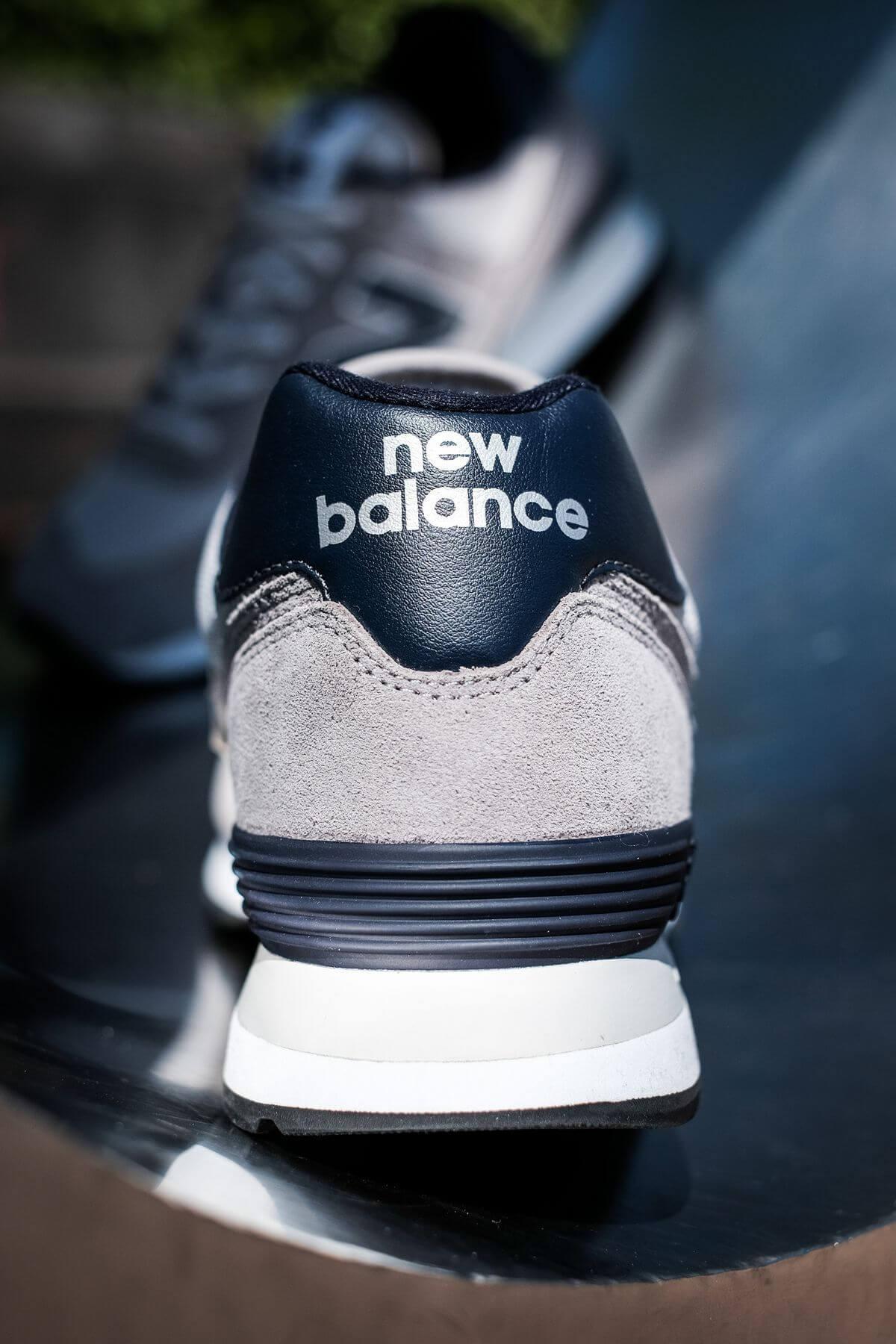 details heel part - New Balance - 574 History Class Pack - ML574BE2 - grey/navy