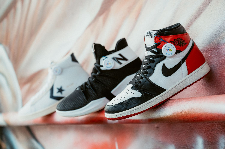 Converse Pro Leather /New Balance OMN1S /Nike Air Jordan 1 Black Toe