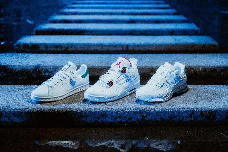 adidas Stan Smith Human Made /Nike Air Jordan 4 Metallic Red / New Balance 2002R Protection Pack