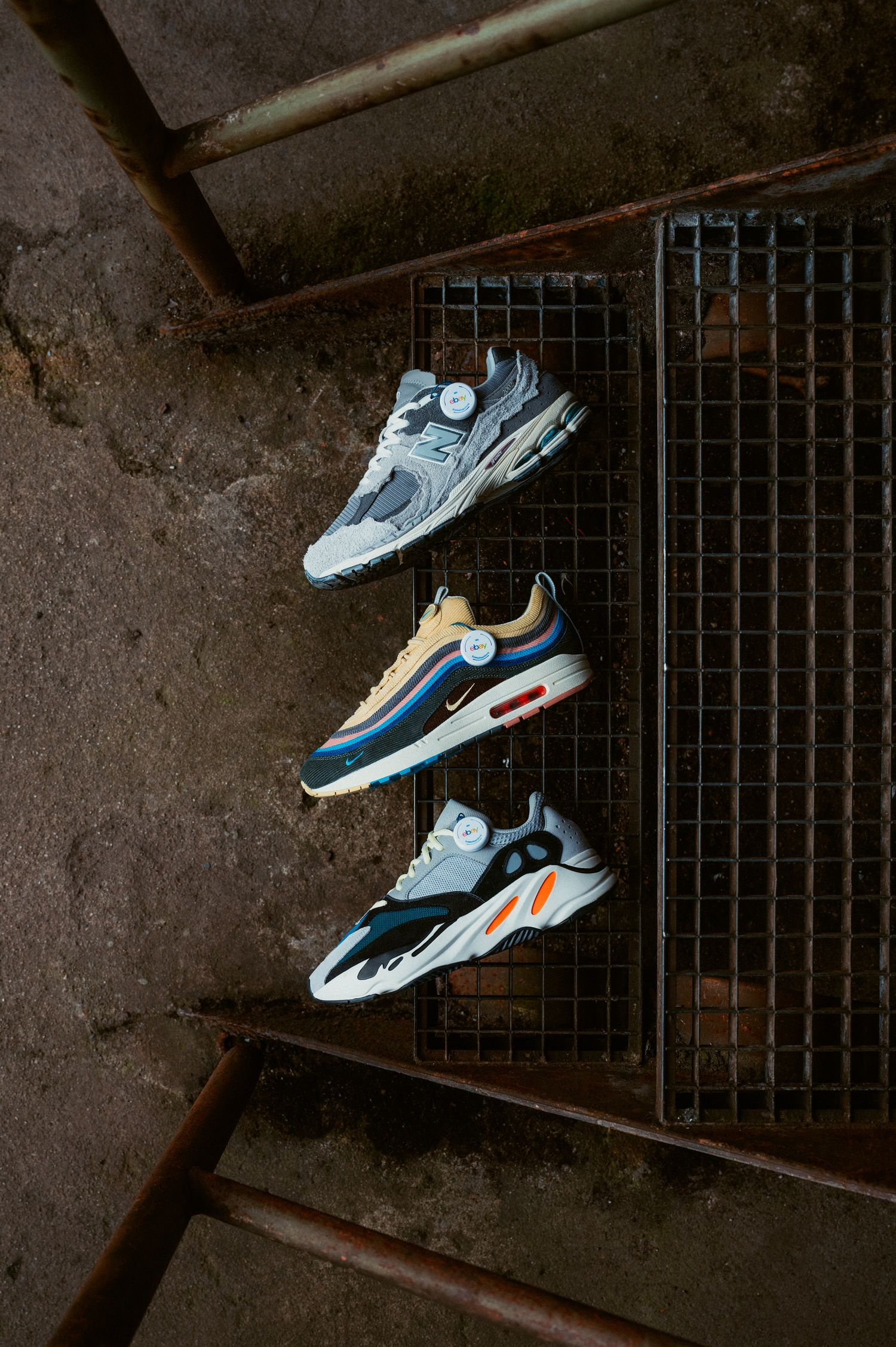 New Balance 2002R Protection Pack /Nike x Sean Wotherspoon Air Max 1/97 /adidas Yeezy Boost 700 Wave Runner Solid Grey