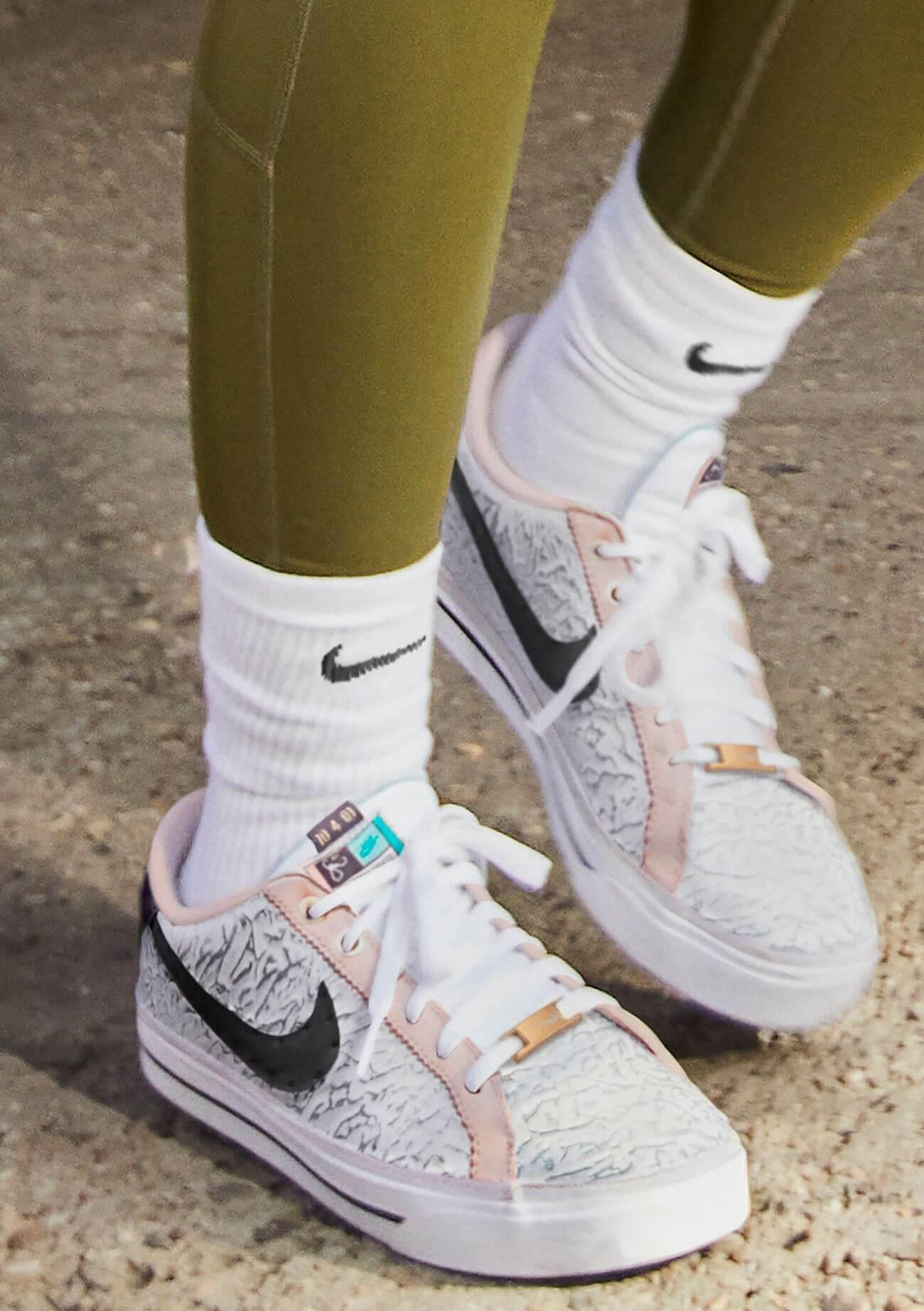 on feet photo of the NikeCourt Legacy AC