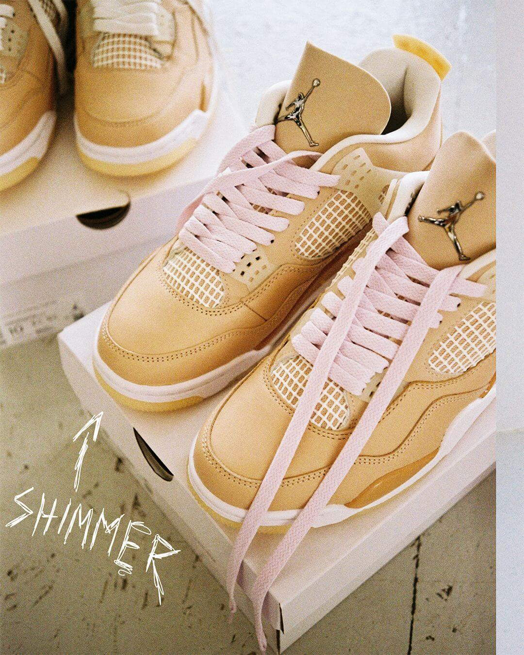 "Nike Wmns Air Jordan 4 Retro ""Shimmer"" - shimmer/metallic silver-orange quartz /DJ0675-200"