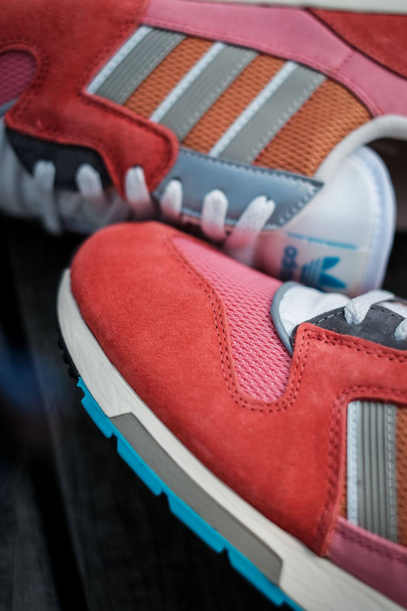 sneaker toe box - adidas - ZX 420 - crew red/ambient blush/cream white - H02128