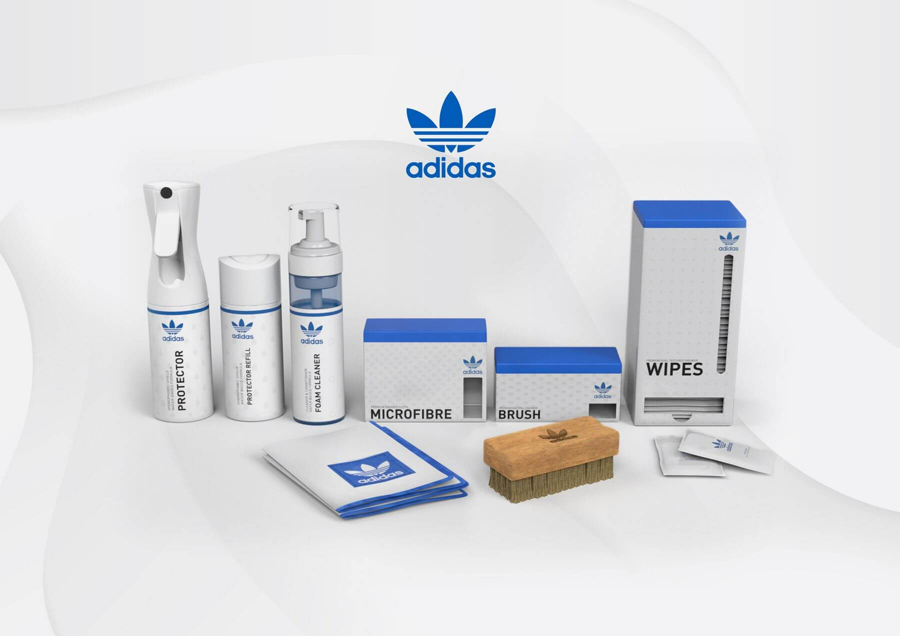 every item of the adidas Originals Shoe Care Collection