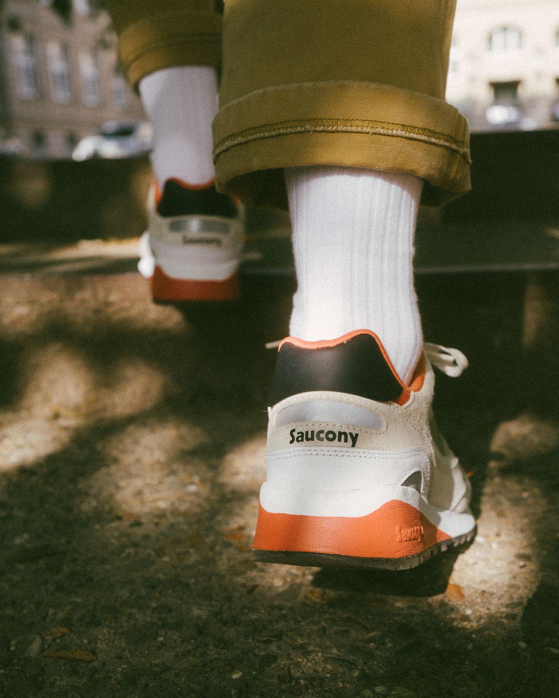 "on feet - Saucony - Shadow 6000 - ""DestinationUnknown"" - white/clay - S70587-3"