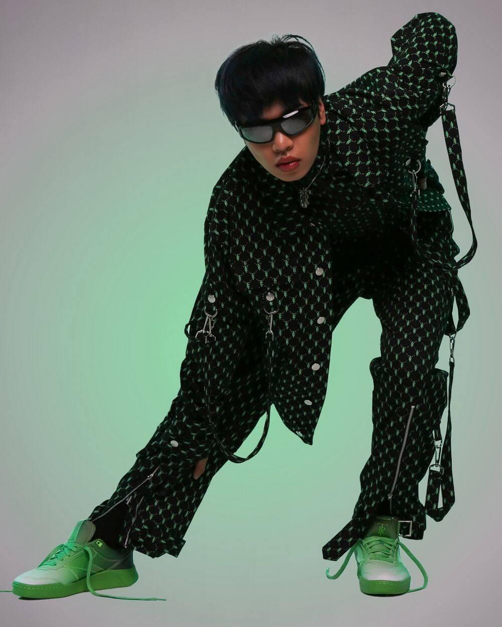 """Reebok x Très Rasché - Club C Legacy - """"Anahata Heart Chakra"""" - solar green/black/white - GW5106"""
