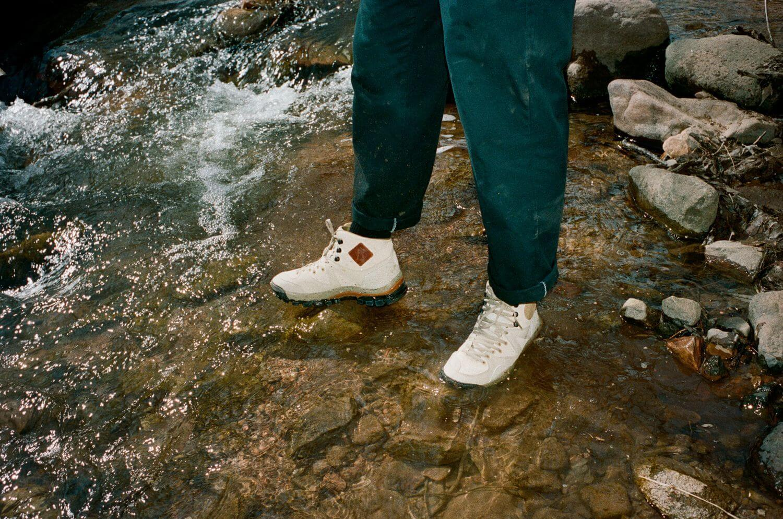 on feet - Vault by Vans x Taka Hayashi - AMZN TRLV3 LX Boot - marzipan/pebble