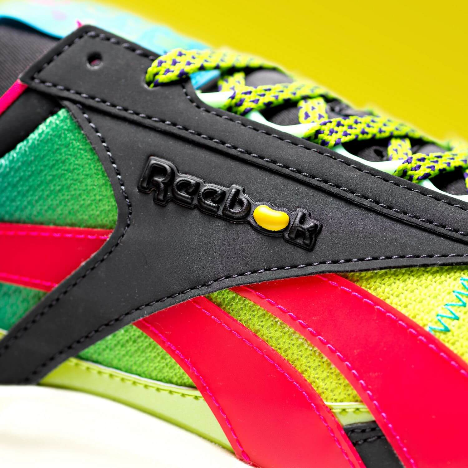 Reebok x Jelly Belly - Classic Leather Legacy - coal/twisted pink/sonic green - GW3376