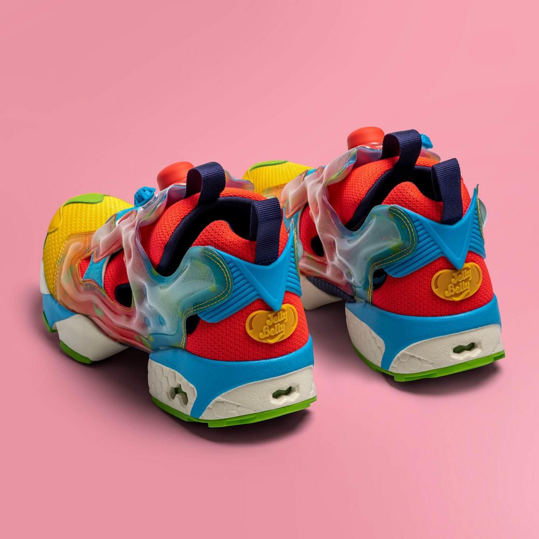 Reebok x Jelly Belly - Instapump Fury - retro yellow/neon cherry/blue blink - GW3388