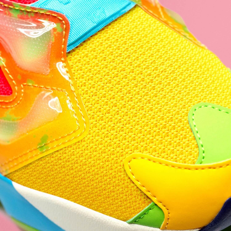 toe box Reebok x Jelly Belly - Instapump Fury - retro yellow/neon cherry/blue blink - GW3388