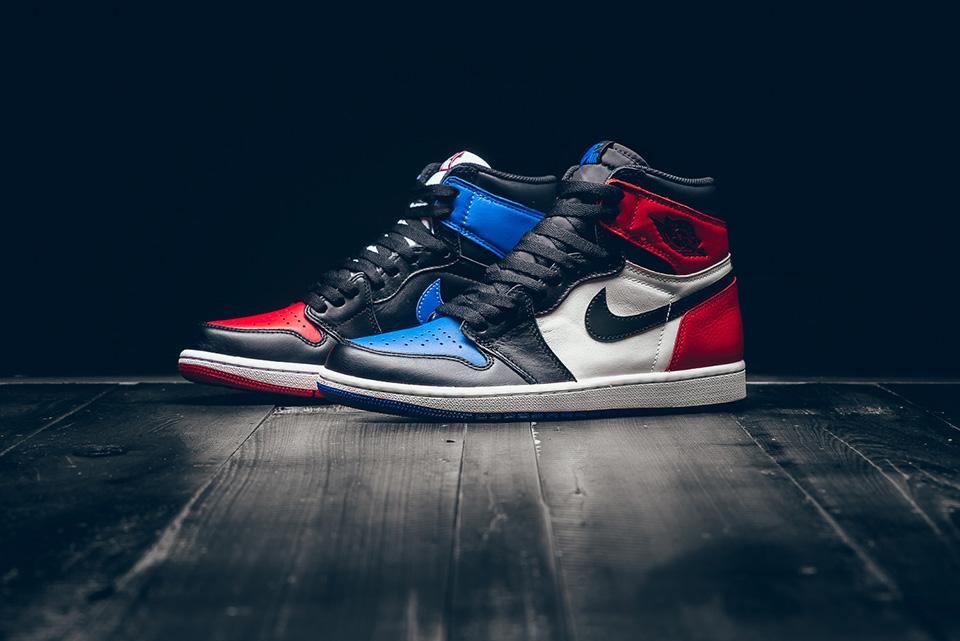"Nike - Air Jordan 1 Retro - ""Top 3 Pick"" - black/varsity red/varsity royal - 555088-026"