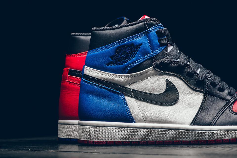 "right side panel - Nike - Air Jordan 1 Retro - ""Top 3 Pick"" - black/varsity red/varsity royal - 555088-026"