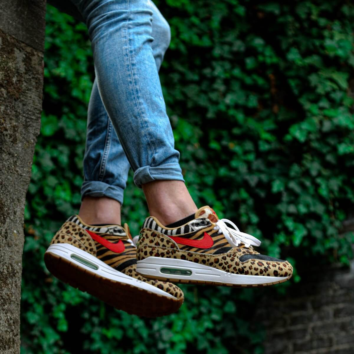 Nike Air Max 1 Atmos Animal Pack 2.0 - wheat/sport red-bisoon-classic green - AQ0928-700