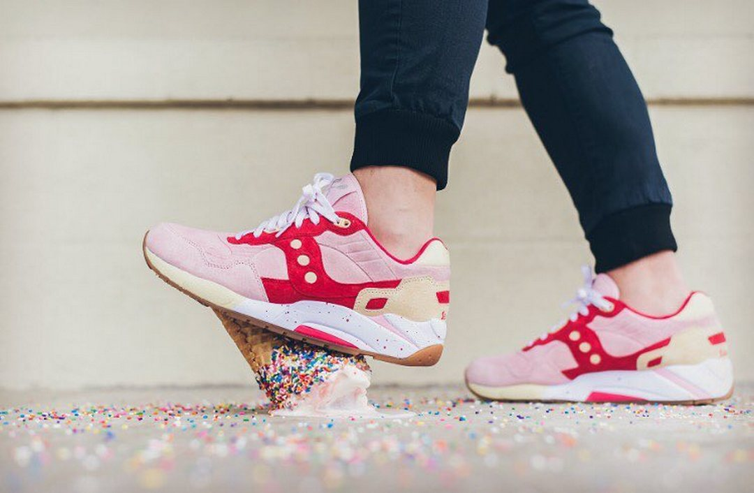 """Saucony - G9 Shadow 6 - """"Scoops Pack Vanilla Strawberry"""" - pink/red-cream - S70185-1"""