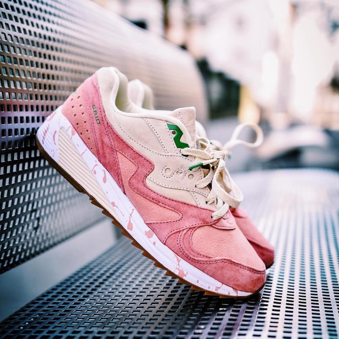 "Saucony - Grid 8000 - ""Shrimp/Scampi"" - pink/cream - S70262-1�"