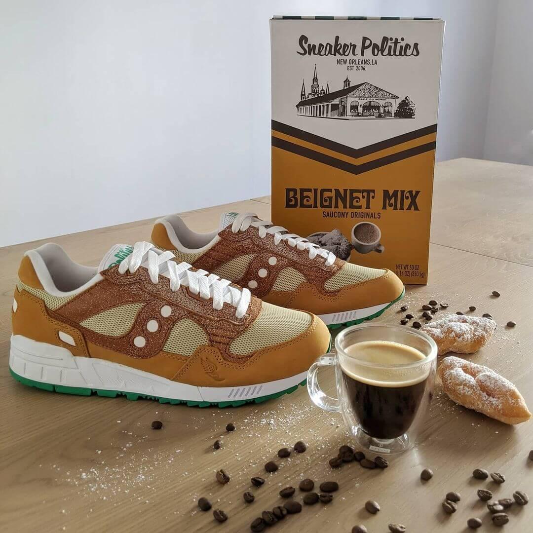 """Saucony x Politics - Shadow 5000 - """"Beignet aka. Cafe Du Monde"""" - beignet/sugar - S70474-1�"""