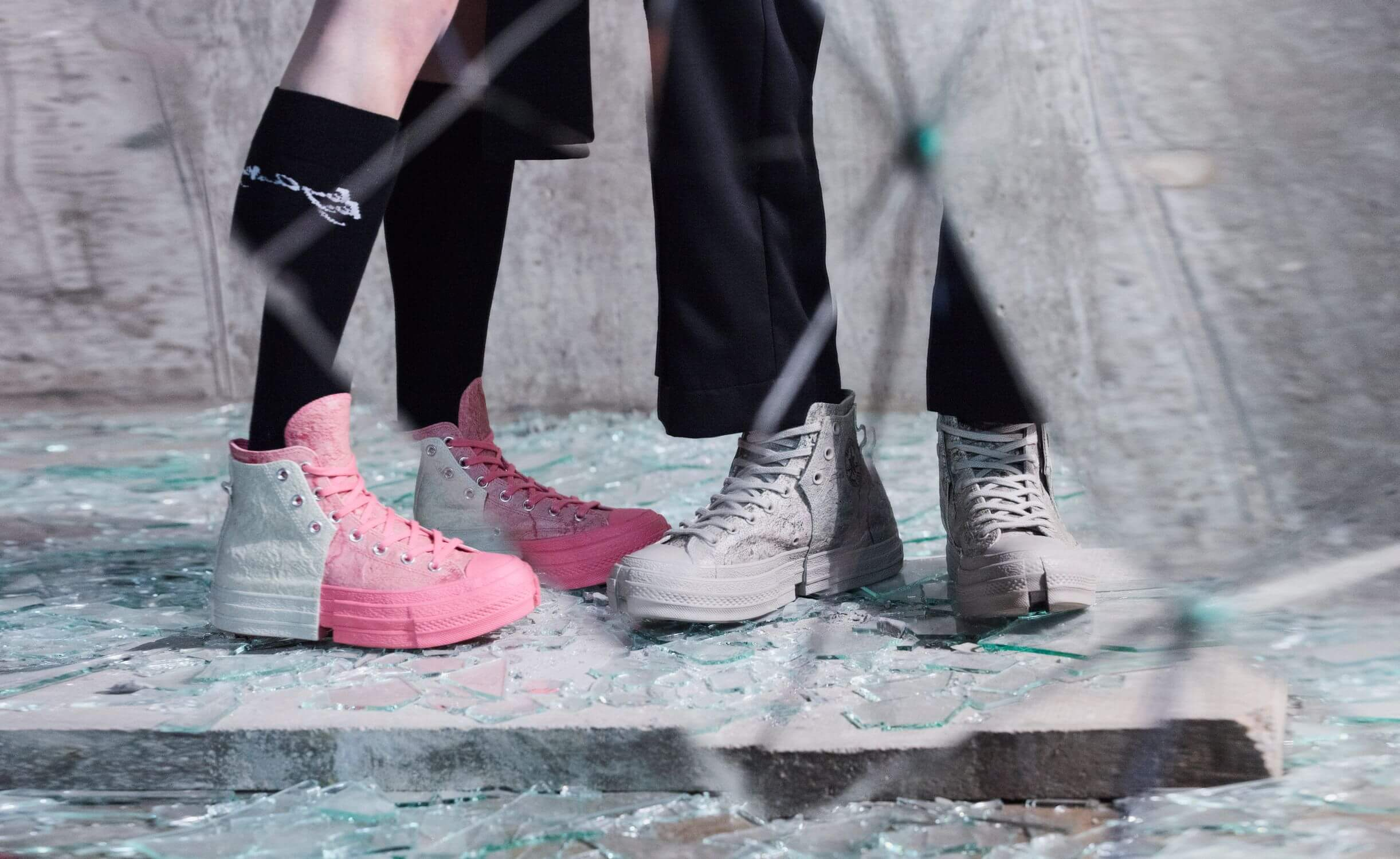 Converse x Feng Chen Wang - 2-in-1 Chuck 70 - pink/white & grey/grey - 171837C &171838C