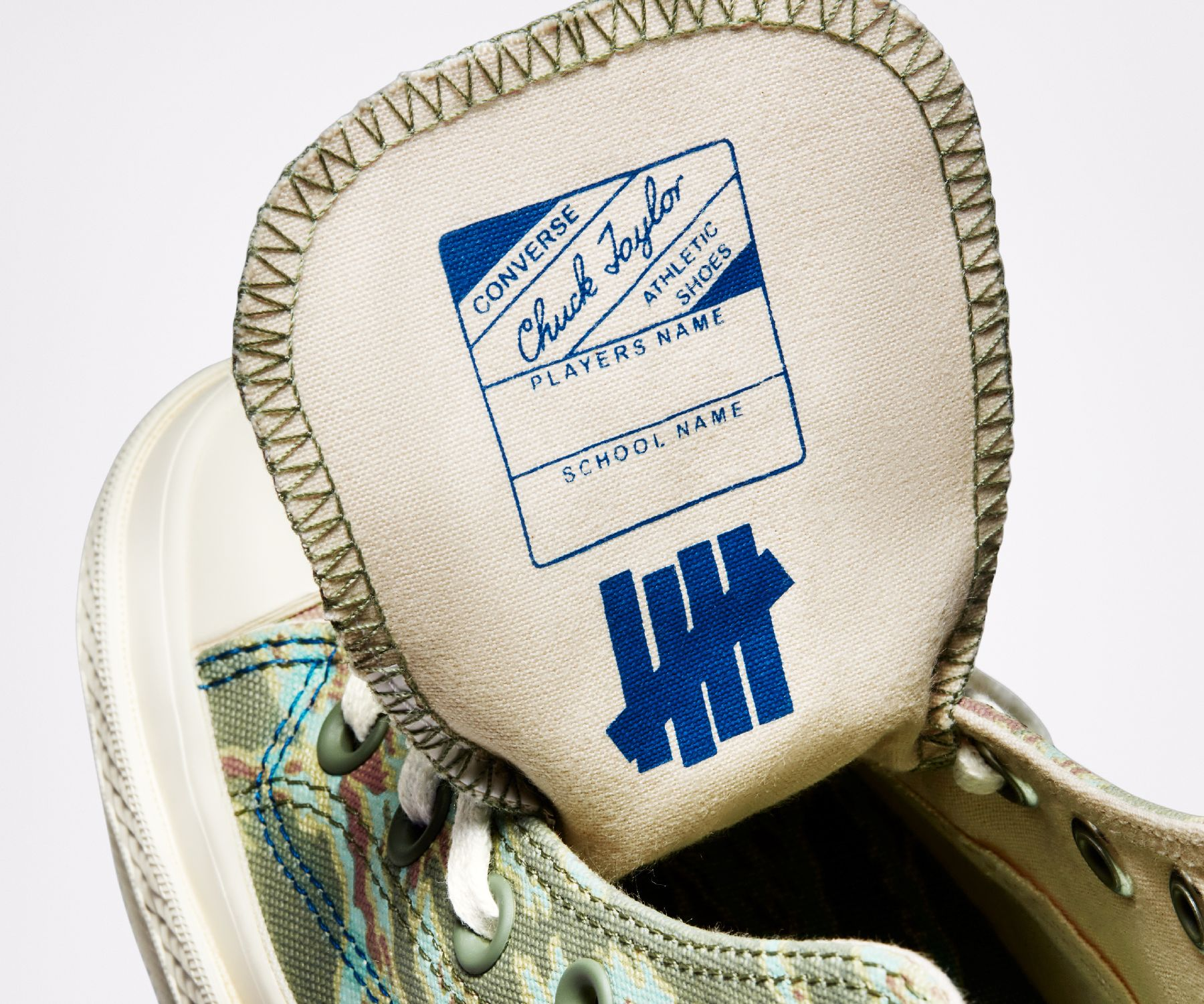inside tongue details - Undefeated Chuck 70 collab