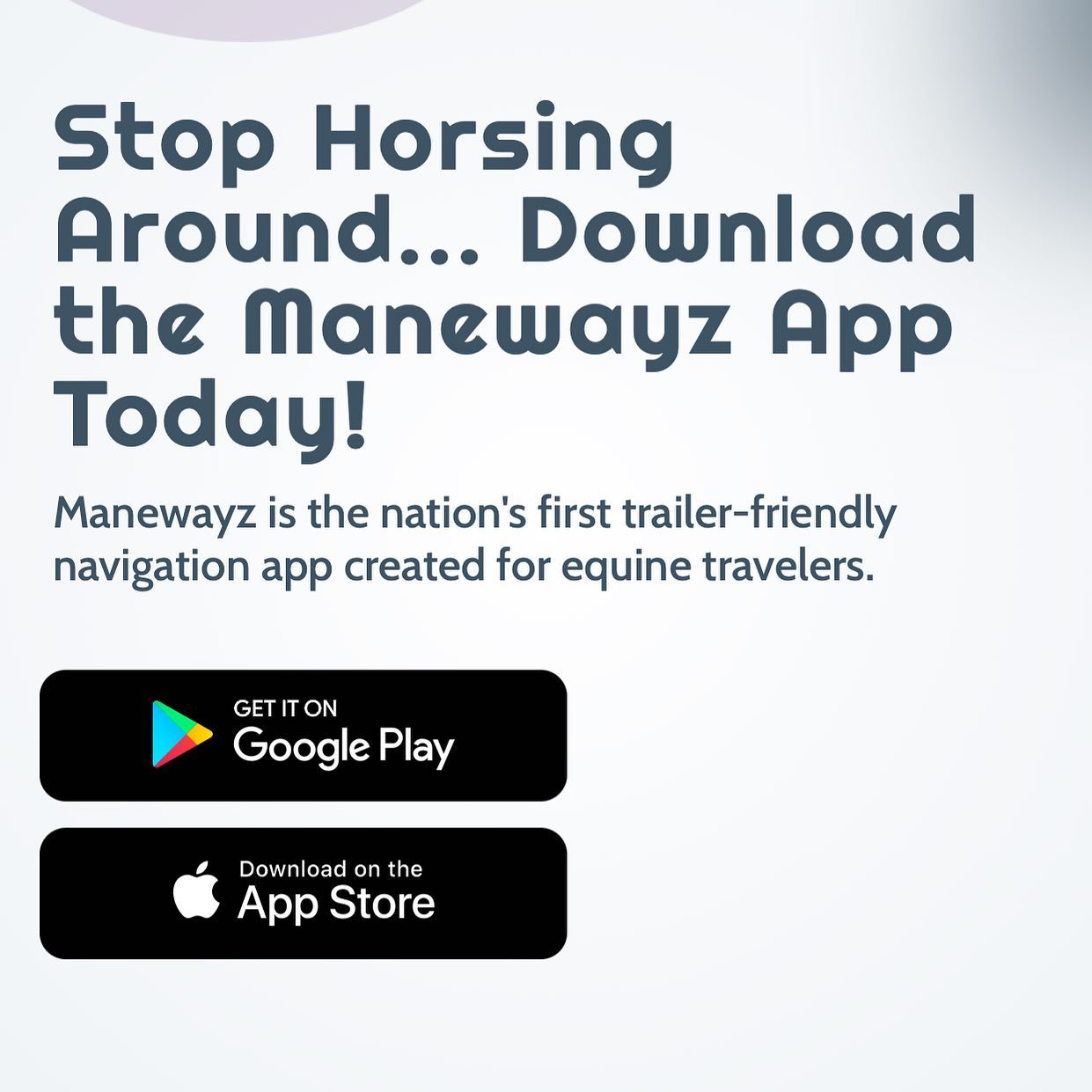 Trailer with peace of mind. 🐴🐴 #manewayz #usef #download