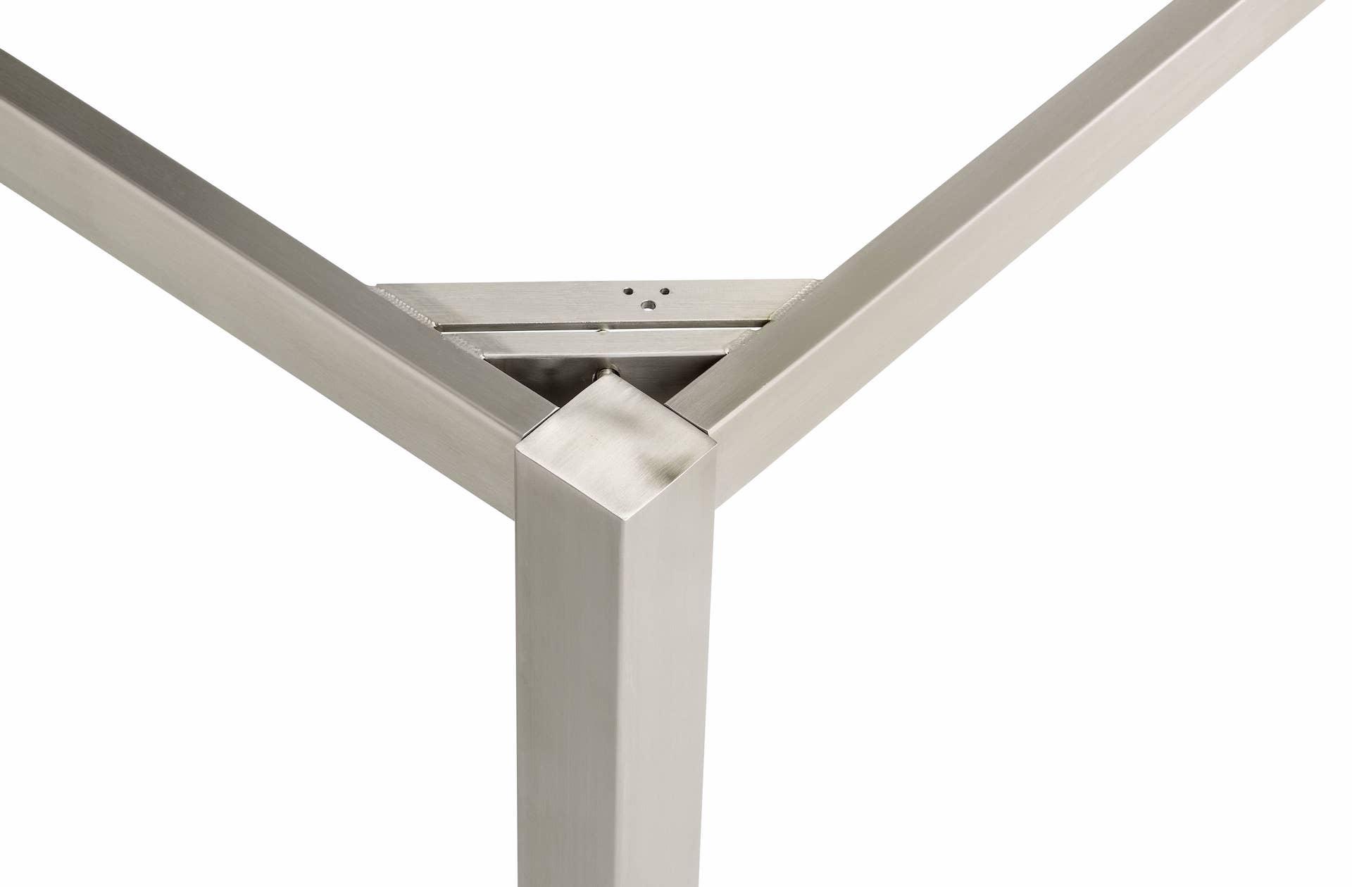 CUBIC Edelstahl Tischgestell 95 x 95 x 72 cm