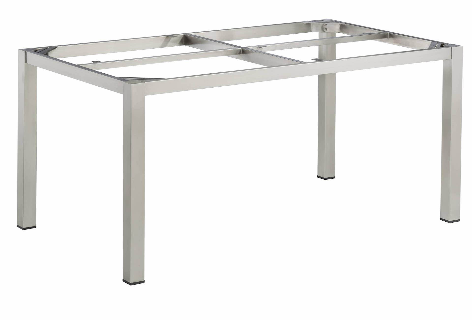 CUBIC Edelstahl Tischgestell 160 x 95 x 72 cm