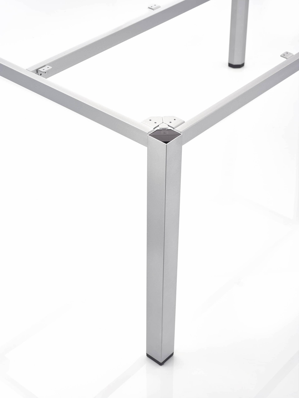 CUBIC Aluminium Tischgestell 95 x 95 x 72 cm