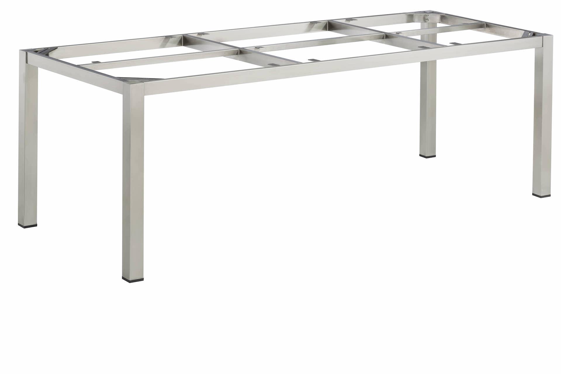 CUBIC Edelstahl Tischgestell 220 x 95 x 72 cm