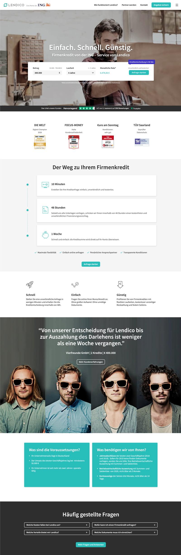 lendico Startseite Desktop - lendico.de