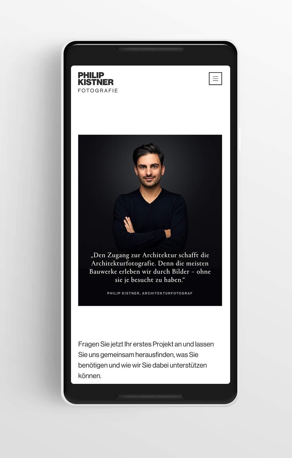 Anfrageseite - Philip Kistner - Mobile