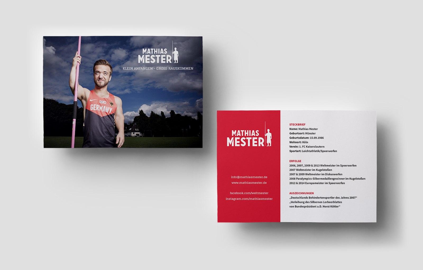 Mathias Mester Autogrammkarten