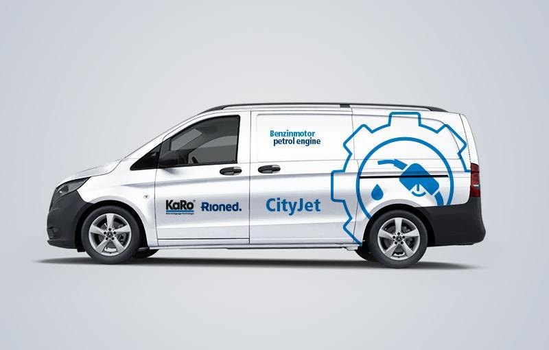 Fahrzeugbeklebung CityJet Benzinmotor