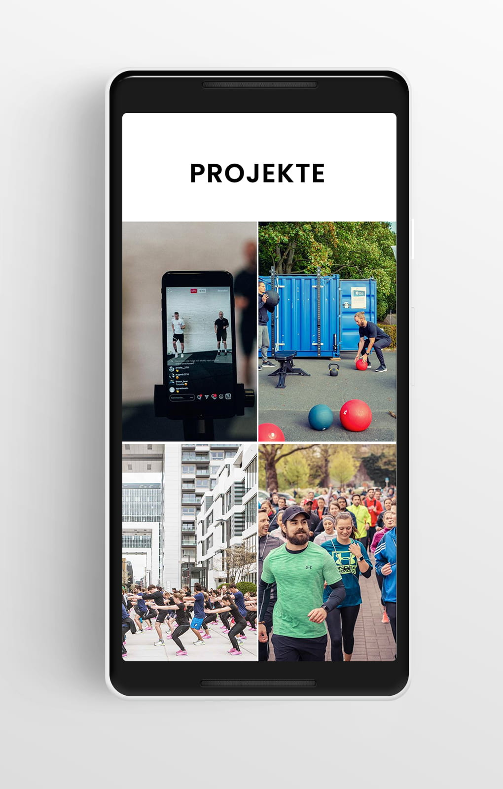 Projekte Mobile - Fit-Köln