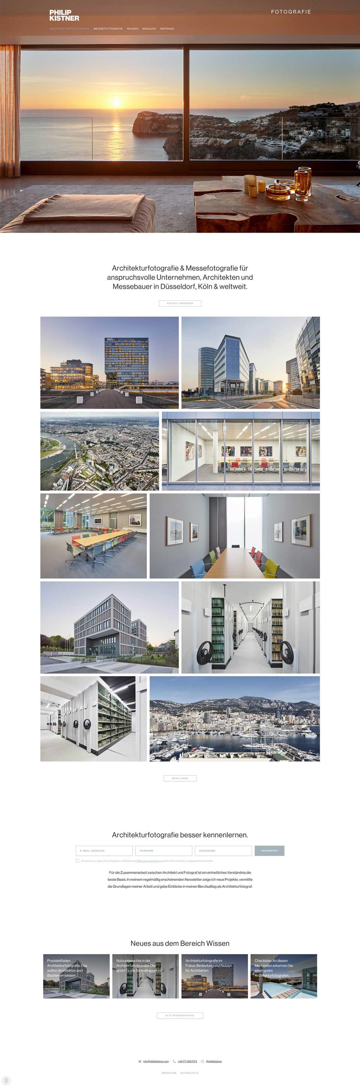 Architekturfotografie Startseite Desktop - Philip Kistner